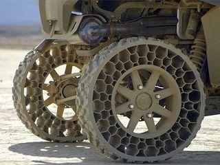 В Америке начинается выпуск шин, которые не надо накачивать