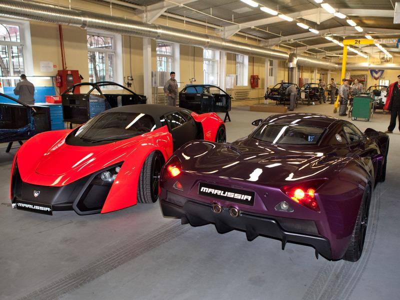 Marussia B1 B2 завод производство