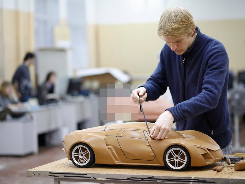 Marussia B1 B2 завод производство дизайнер скетч