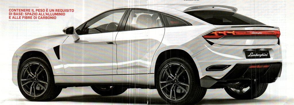 Кроссовер Lamborghini показали избранной публике