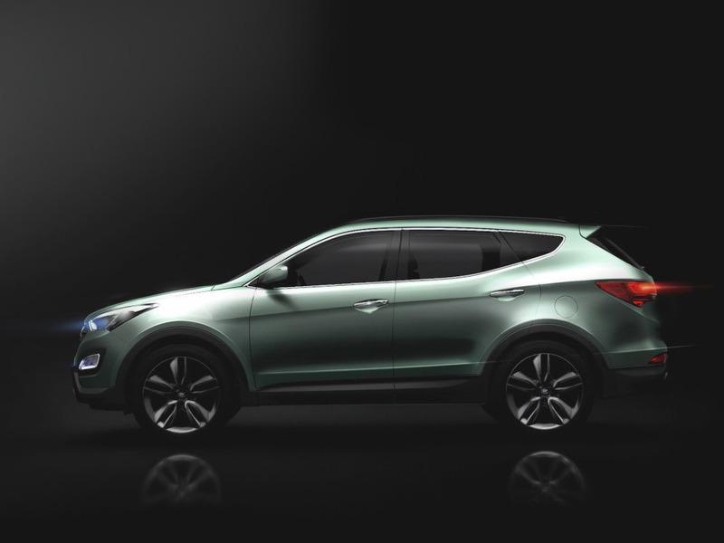 Hyundai обнародовал первые изображения нового Santa Fe