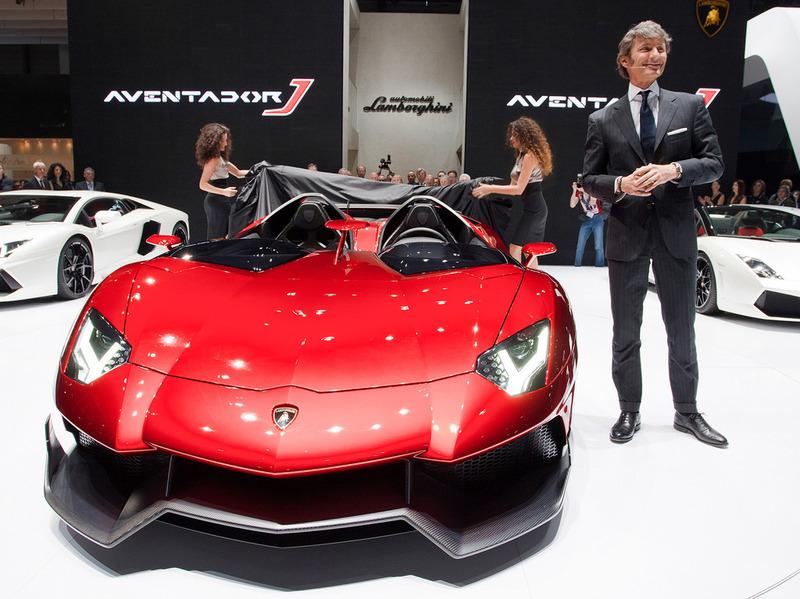 На создание Lamborghini Aventador J ушло всего шесть недель