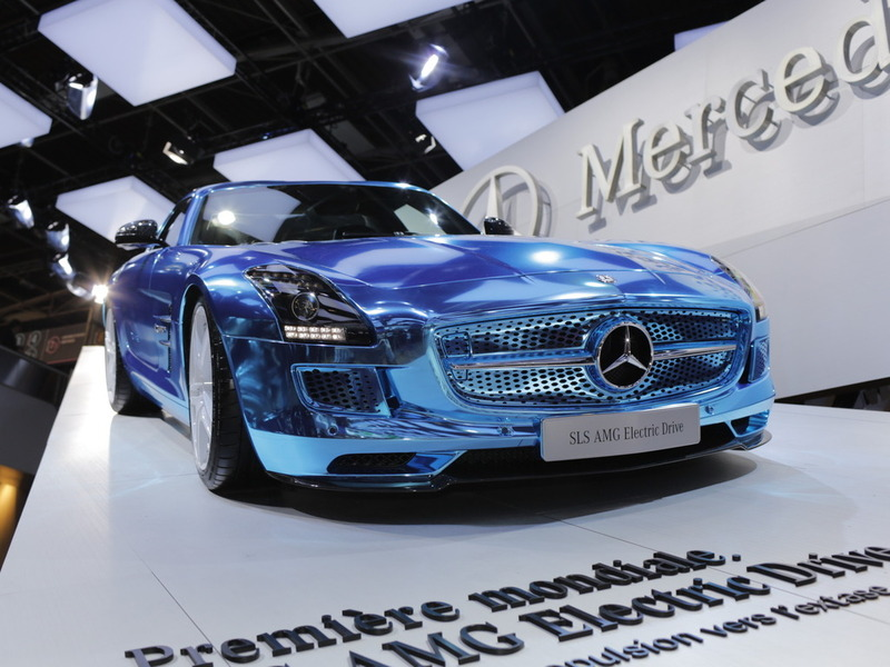 Mercedes SLS AMG Electric Drive Париж