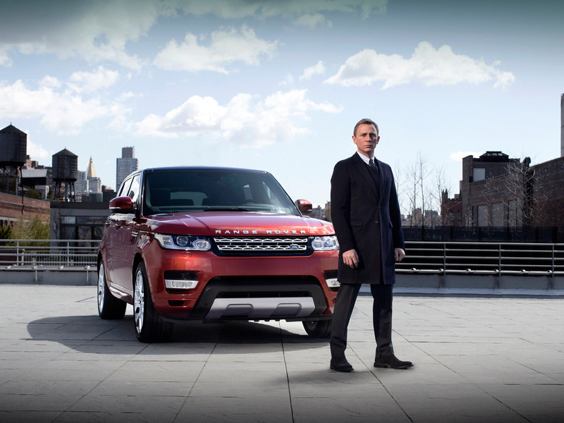 Daniel Craig with the Range Rover Sport Нью-Йорк Дэниел Крейг