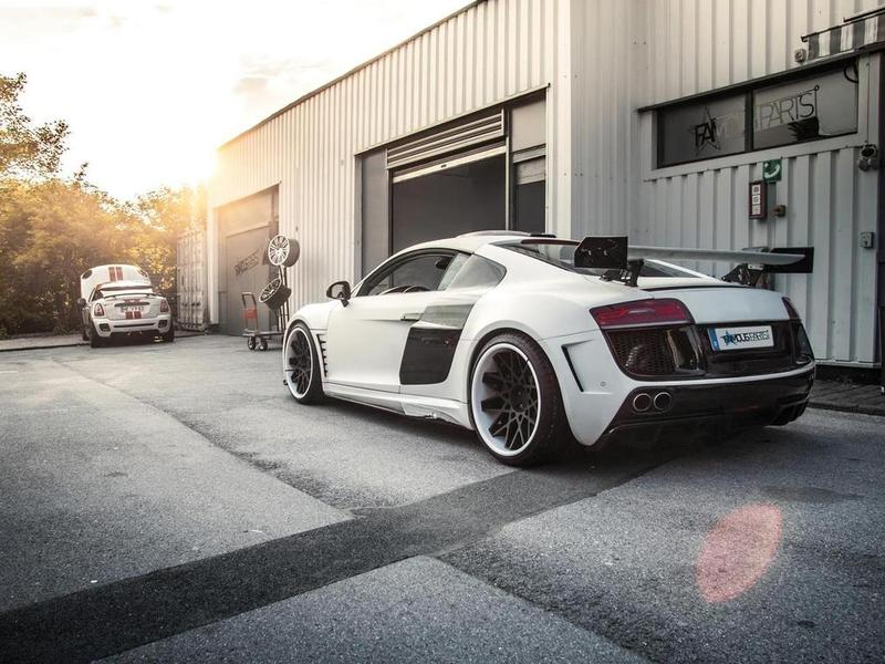 Audi R8 by Prior Design and Famous Parts