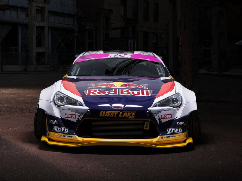 Toyota GT 86 Шиков дрифт кар Red Bull