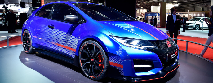 Honda Civic Type R Concept Париж 2014