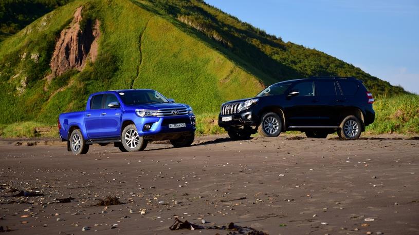 Тест-драйв Toyota Hilux и LC Prado: первые впечатления