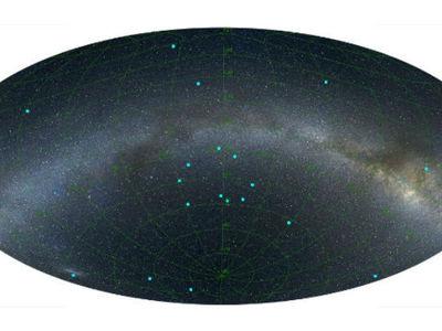 Обнаружено кольцо галактик размером с треть Вселенной