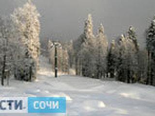 В горах Сочи прогнозируют сильные снегопады, возможны сходы лавин