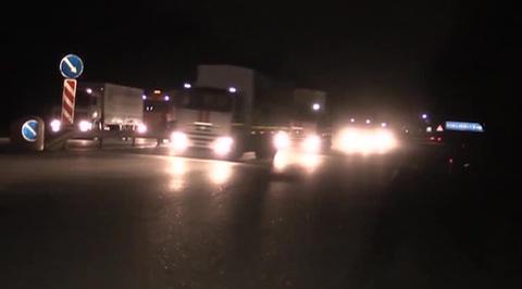 В Донбасс отправилась 39-я автоколонна МЧС России