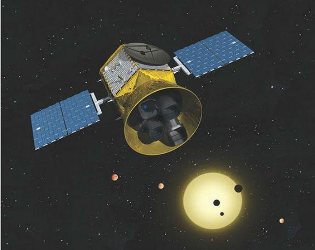 Аппарат TESS в представлении художника (иллюстрация MIT KAVLI Institute for Astrophysics and Space Research).