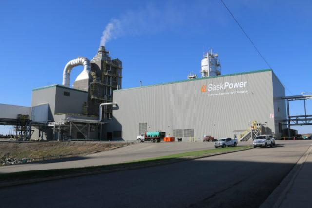 Один из важных объектов обновлённой электростанции (фото SaskPower).