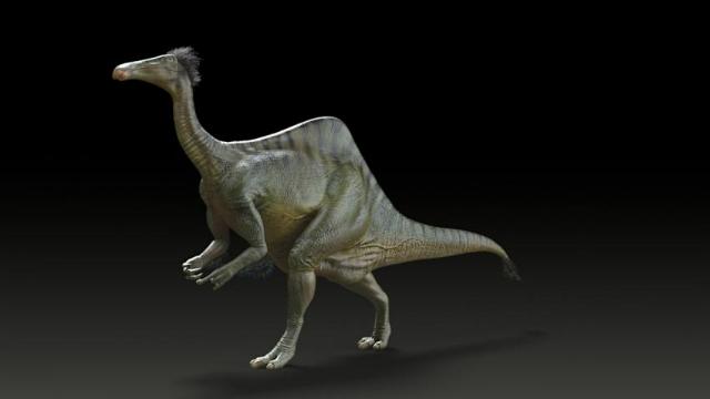 Реконструкция облика Deinocheirus mirificus (иллюстрация Yuong-Nam Lee (KIGAM)).