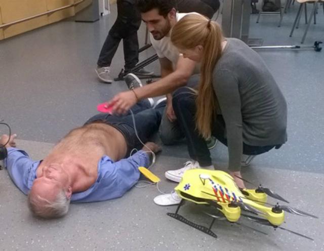 Дрон скорой помощи прибудет на место происшествия в кратчайшие сроки (фото TU Delft).