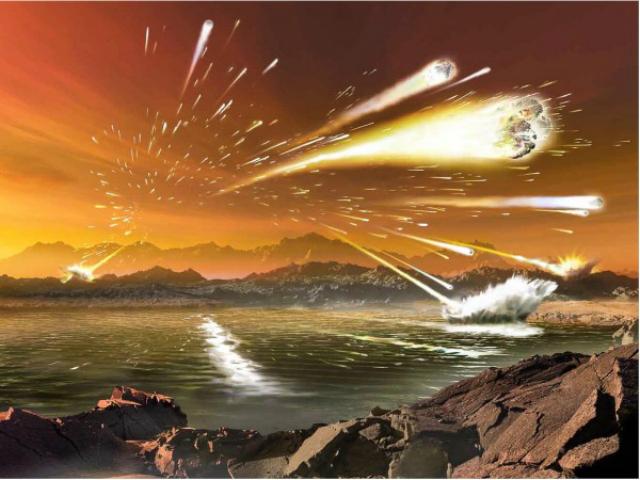 Результаты нового исследования указывают на то, что ключевые компоненты генетического материала появились на древней Земле благодаря внеземному воздействию (иллюстрация Dana Berry).