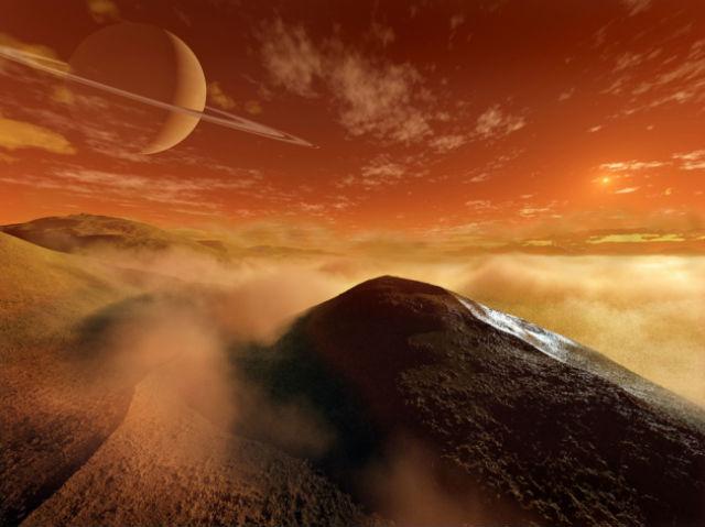 Песчаные дюны на Титане в представлении художника (иллюстрация Steven Hobbs).
