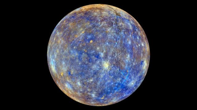Таким видит MESSENGER планету Меркурий (фото NASA).