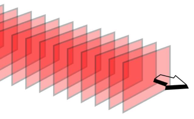 Лишь по плоской волне свет распространяется с постоянной скоростью (иллюстрация Wikimedia Commons).