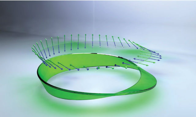 Исследователи закручивали в ленту Мёбиуса поляризацию структурированного света (иллюстрация University of Rochester).