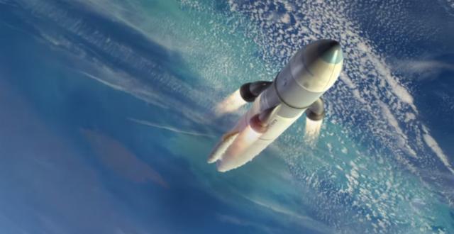 Ракета крепится на платформу в нижней части реактивного самолёта (иллюстрация DARPA).
