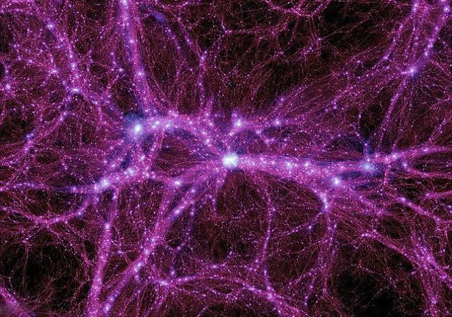 Тёмная материя в представлении художника. Стандартная модель физики частиц не может объяснить это явление (иллюстрация PA).