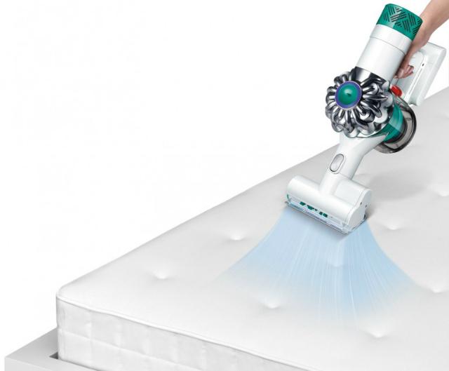 Устройство оснащено моторизированной щётки с нейлоновой щетиной (иллюстрации Dyson).