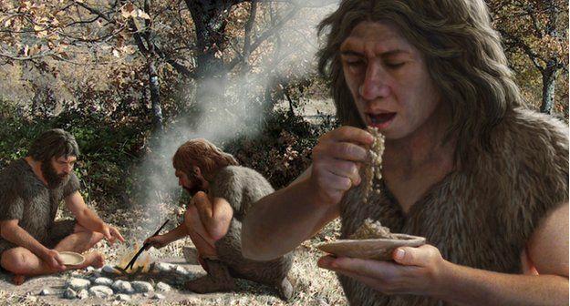 Контролируемое использование огня шимпанзе не освоили, а вот люди получили этот навык (иллюстрация Mauricio Anton/Science Photo Library).