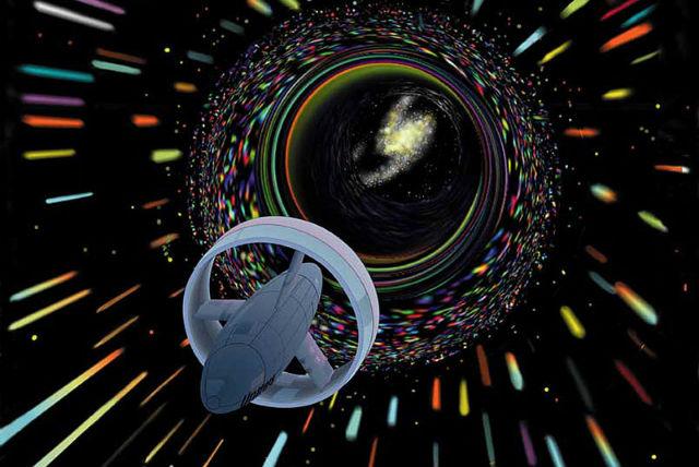 Вероятно, в будущем сквозь червоточины можно будет путешествовать во времени. Разумеется, если физики изучат их до конца (иллюстрация Wikimedia Commons).