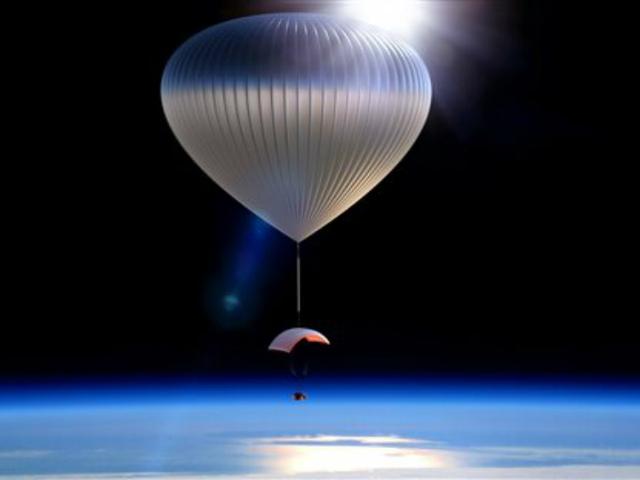 Воздушный шар World View Voyager, несущий капсулу (иллюстрация World View Enterprises).
