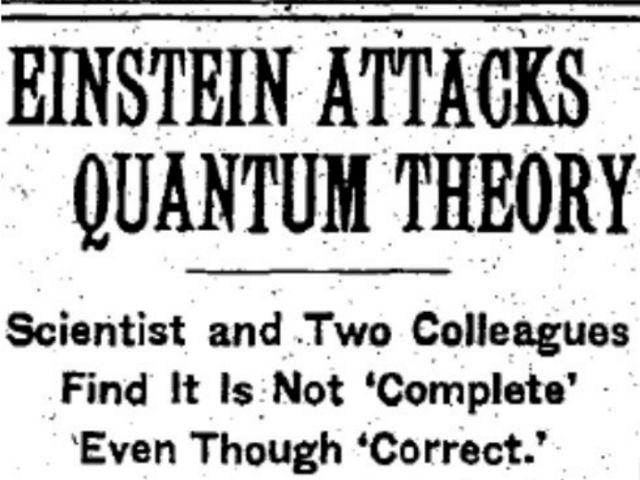 Впервые подобное явление описали ещё Эйнштейн, Подольский и Розен (фото Wikimedia Commons).