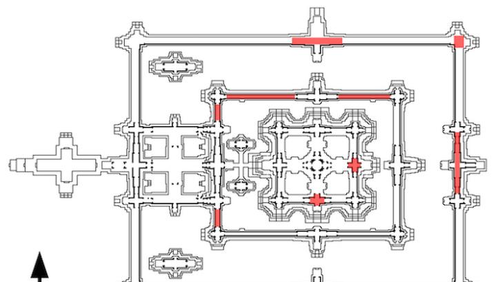 Схема храмового комплекса: