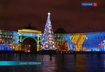 На Дворцовой площади заканчивается подготовка светомузыкального шоу