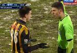 Неадекватная реакция футболиста на красную карточку