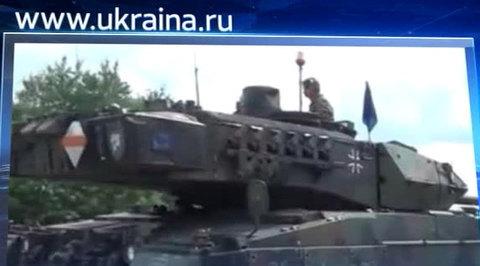34 немецких танка приехали на Украину через Польшу
