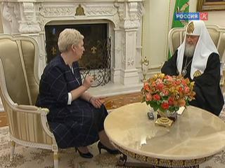 Патриарх Кирилл и Ольга Васильева обсудили вопросы образования