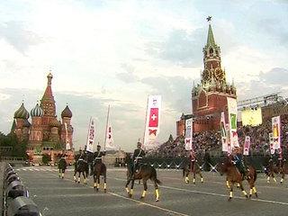 Кавалерийский почётный эскорт Президентского полка на Красной площади