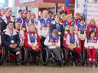 Триумфаторов Паралимпиады встретили в Москве