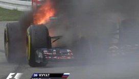 Российский гонщик спасся из огня