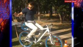 Дарья Домрачева изобрела уникальный велосипед