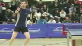 Теннисист зажигает после матча