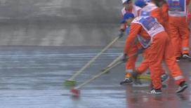 Гран-при России. Трассу затопило дизельным топливом